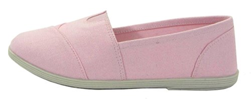 Soda Shoes Womens Obji Rnd Toe Casual Flat With Padded Insole Pink Linen FgonHKs0gZ