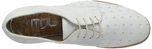 Chaussures Bianco Femme Lacets 884116 0101 à Blanc 6001 Mjus wqgCRBq