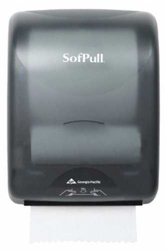 Georgia Pacific SofPull Mechanical Hand Towel Roll Dispenser, Smoke, 1 Each