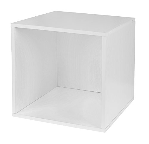 Niche PC1211WH Cubo Full Size Stackable Storage Cube, 1, White