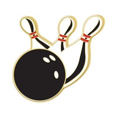 Bowling Enamel Lapel Pins - Bowling Pins Award 30 Pack
