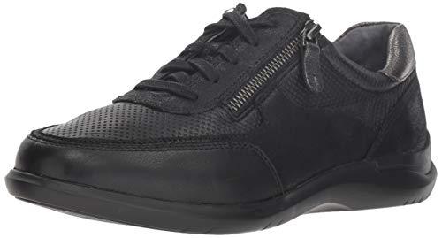Aravon Women's Power Comfort TIE Sneaker, Black, 5.5 2E US