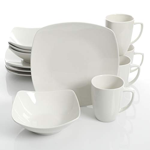 Gibson Home Zen Buffetware 12 Piece Dinnerware Set, White