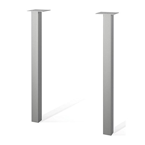 Two Metal Legs in Silver by Bestar