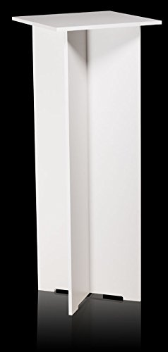Quick Set Pedestal - 15.25 X 15.25 Top - 40 Tall - White (White Display Pedestal compare prices)