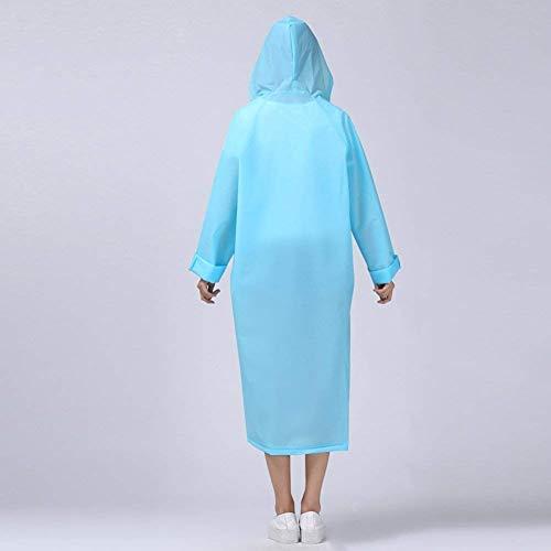 Roue Vêtements Blau L'eau Capuche Le Casual Poncho De Dame Imperméable Vélo À Pluie 7q1R6wYWz