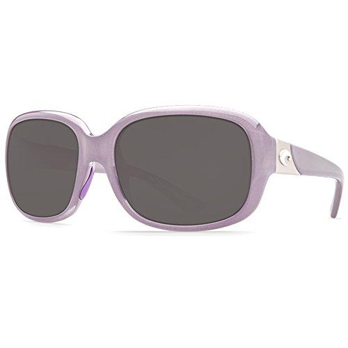(Costa Del Mar Gannet Sunglasses Shiny Sea Lavender Crystal/Gray)