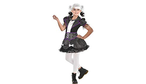 Party City The Nightmare Before Christmas Jack Skellington Costume for Girls, Small, with Included Accessories -