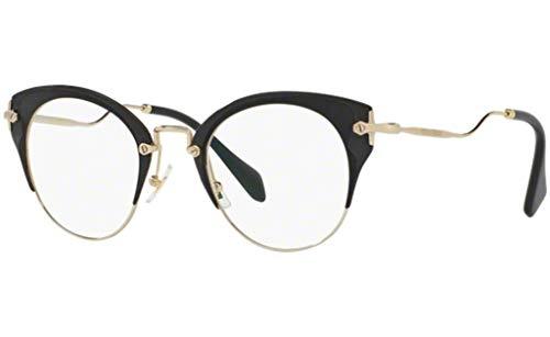 MIU MIU Eyeglasses MU52PV 1AB1O1 Pale Gold/Matte ()