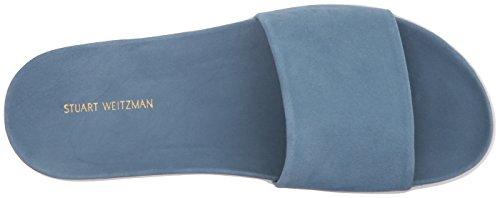 Stuart Weitzman Women's Landslid Slide Sandal Jeans Suede ImoiOq