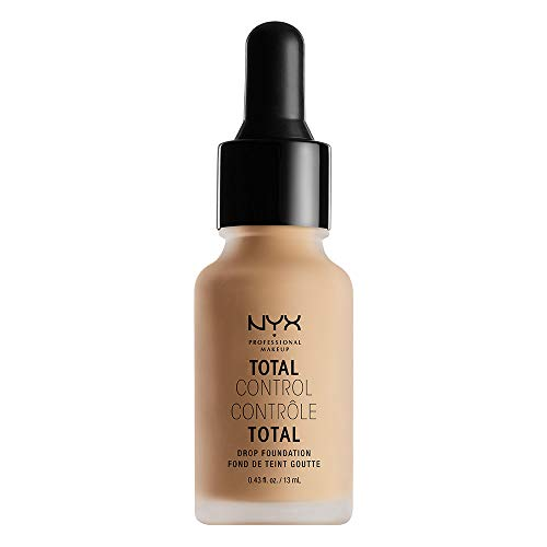 NYX PROFESSIONAL MAKEUP Total Control Drop Foundation, Medium Olive, 0.43 Fluid Ounce