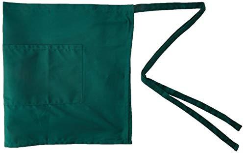 - eBuyGB 100% Cotton Half Size Bartender Apron - Short Waist Bar / Café (Green)