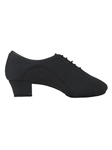 Rumpf 2434 Zapato Baile Hombre Latino Estándar Salsa Tango Cubano Zapato Baile Neopreno Suela de cromo tacón 4 cm color negro Negro