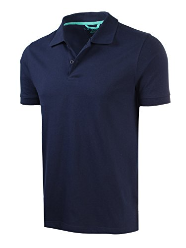 Marq 75 Slim Fit Jersey Polo Shirt - Navy, X-Large