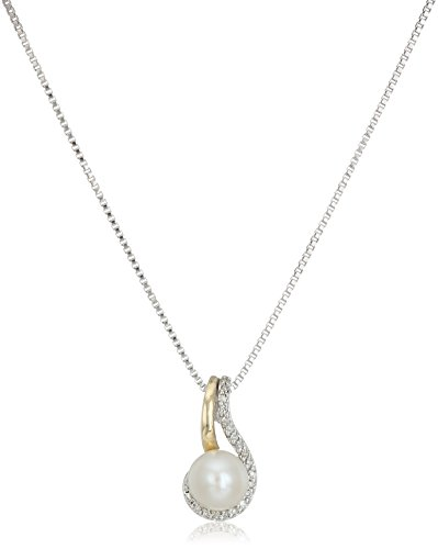 Sterling Freshwater Cultured Diamond Necklace