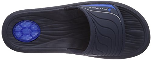 Rider Montana IV Herren Pantoletten Schwarz (Black/Blue 02383)