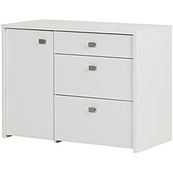 Superbe South Shore Interface Storage Unit With File Drawer, Pure White