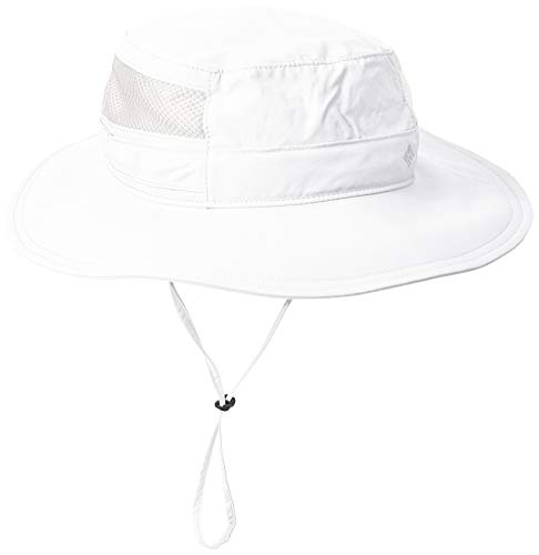 Columbia Unisex Bora Bora II Booney Hat, Moisture Wicking Fabric, UV Sun Protection, White, One Size