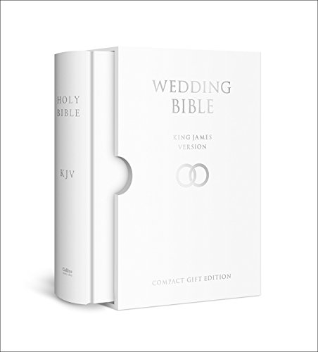 HOLY BIBLE: King James Version (KJV) White Compact Wedding Edition