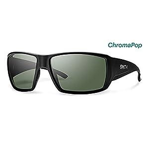 Smith Guide's Choice Sunglasses Matte Black / Chromapop Polarized Gray Green & HDO Cleaning Carekit Bundle