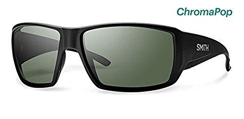 Smith Guide's Choice Sunglasses Matte Black / Chromapop Polarized Gray Green & HDO Cleaning Carekit - Choice Guides Sunglasses