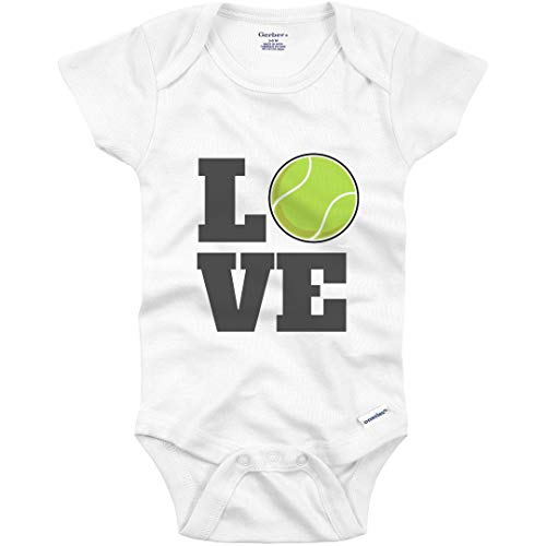 Tennis Baby Loves The Sport: Infant Gerber Onesie White