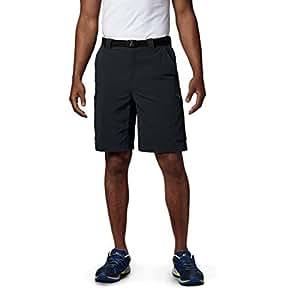 Columbia Sportswear Men's Big and Tall Silver Ridge Cargo Shorts, Black, 42 x 12