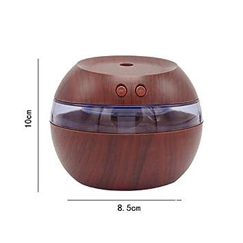 Adecuado para el Dormitorio Oficina(10 * 10 * 8.5CM) humidificador ultras/ónico Sala de Estar jingyuu Mini humidificador de Grano de Madera USB