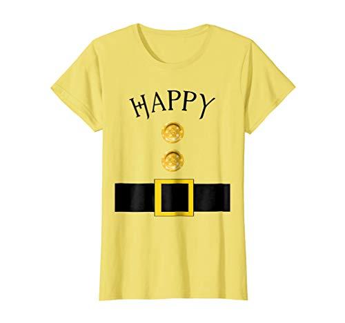 Womens Cute Happy Halloween Group Costume T Shirt | Team Tees Large Lemon