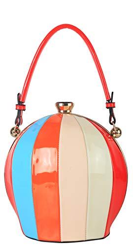 Rimen & Co. Rainbow Color Ball Shape Top Handle Handbag Chic Party Purse