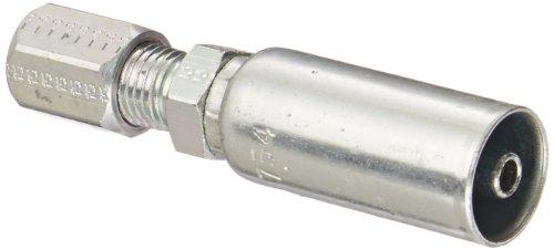 Flareless Tube - EATON Weatherhead Coll-O-Crimp 04U-754 Flareless Tube Rigid Fitting, Low Carbon Steel, 1/4