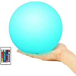 Kohree Floating Pool Light, Light up Swimming Pool Ball Light for Inground and Above Ground Pool with Wireless Remote, 6 inch, 16 Colors Rechargeable Floating Orb Light 1 Pack