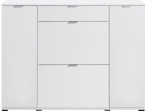 CS Schmalmöbel 34.012.012/28 Colorida Schuhkommode Typ 28, 143.5 x 108 x 37 cm, weiß