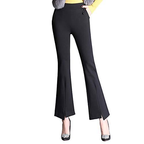 En Grande Pantalons Femme Bootcut Vrac Valin Noir Pantalon Taille Vfq331 OXw6qXt