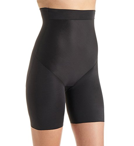 TC Fine Intimates Luxurious Comfort Firm Control Thigh Slimmer, XL, Black