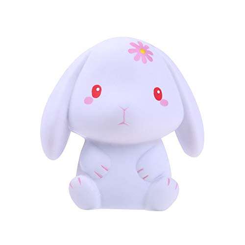 Euone  Squishy Toy, Adorable Rabbit Slow Rising Cream Squeeze Scented Stress Relief Toys Squishies (B)