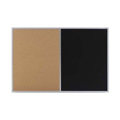 Combo Natural Cork & Blackboard w Aluminum Trim & Tray (35.5 in. x 45.5 - Board Aluminum Bulletin Trim
