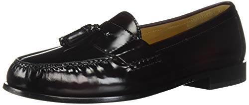 Cole Haan Men's Pinch Tassel Loafer, Burgundy, 10.5 D US
