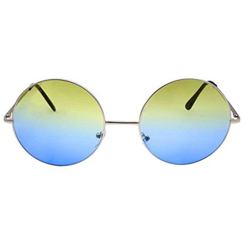 Dessert Flavor Inspired Hippie Retro Sunglasses 70's Oversize Circle Lens Round Lennon Pina - Sunglasses 70