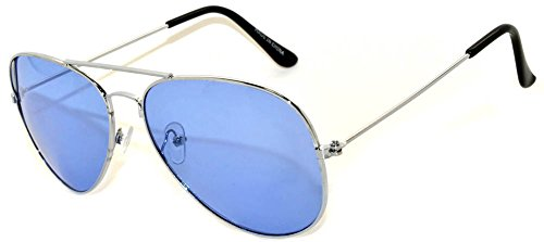 Aviator Classic Sunglasses Black Silver Bronze Gold Blue Green Yellow White... (l - Sunglasses Bronze