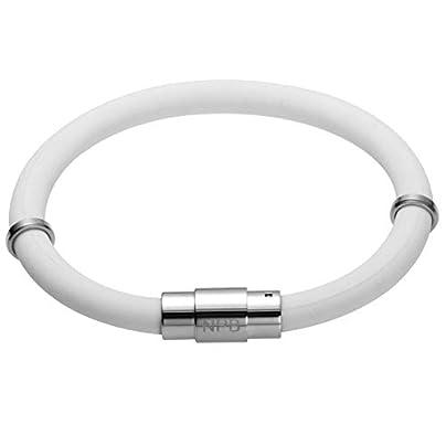ZUOZUO Leather Wristband Waterproof Ion Balance Exercise Strong Silicone Wristband Tourmaline Bracelet Estimated Price £45.99 -