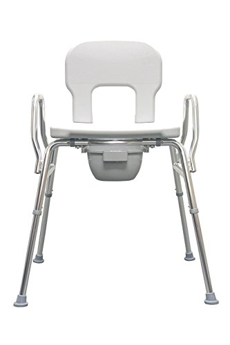 Heavy-Duty Commode / Shower Chair (62625) - 500 lb Capacity (Base Length: 29'' - 30.25'') - Eagle Health Supplies
