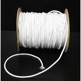 1mm Round white Elastic Cord - per 5 metres FREE P&P