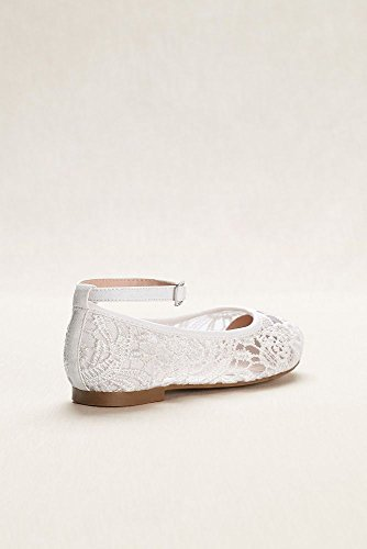 45ffdc4b7 David's Bridal Flower Girl Crochet Lace Ballet Flats Style BHARPER4, White,  1 by David's