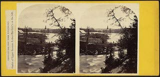 Outlet Lake (HistoricalFindings Photo: Outlet of Upper Saranac Lake - Bartlett's on The Left)