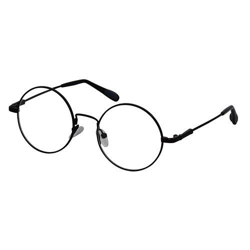 EyeBuyExpress round Black Reading Glasses Magnification Strength 1.25