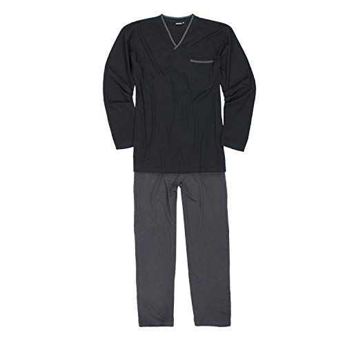 Sleeve grandi a fino By Adamo Pajama Set Long dimensioni 10xl Black 5ORq8qaw