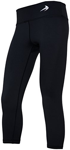 Capri's (Black - L) - Body Slimming for Yoga, Hidden Pocket, Amazing Workout Pants (Capri Cropped Tights)
