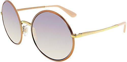 Dolce & Gabbana Women's Metal Woman Non-Polarized Iridium Round Sunglasses, Matte Pink Gold, 56 - And Dolce Gabanna By