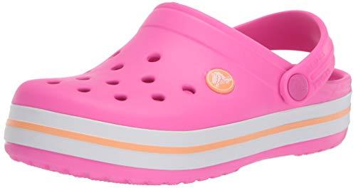 Sandália, Crocs, Crocband Kids, Electric Pink/cantaloupe, 22, Criança Unissex